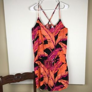 OLD NAVY TROPICAL PRINT STRAPPY ROMPER